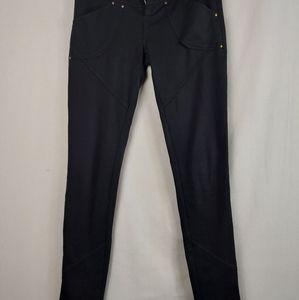 Free people black Stretch skinny pants 25